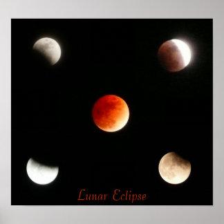 Eclipse lunar póster