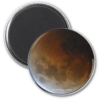 Eclipse lunar total imanes de nevera