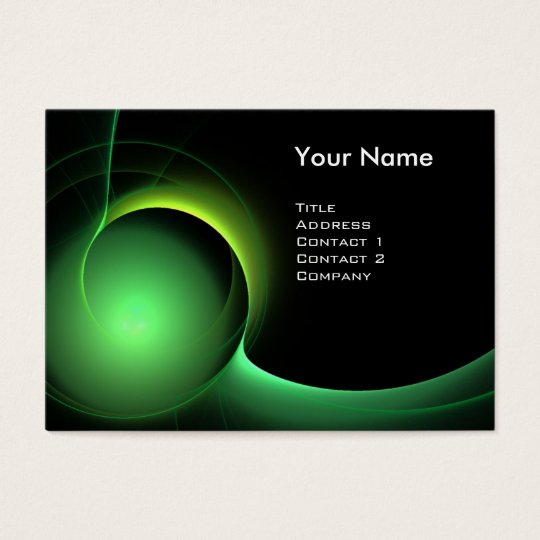 ECLIPSE MONOGRAM Vibrant black green Business Card