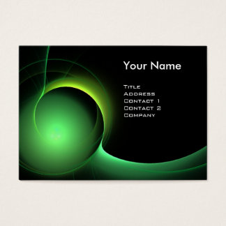 ECLIPSE MONOGRAM Vibrant black green Business Card