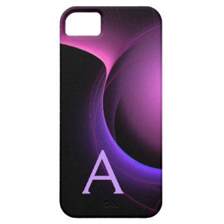 ECLIPSE MONOGRAM Vibrant black purple iPhone SE/5/5s Case