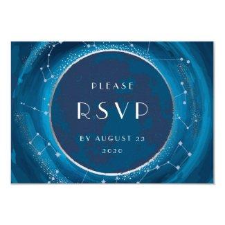 Eclipse Moon Wedding RSVP Card