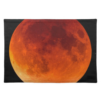 Eclipse of the Blood Moon Cloth Placemat