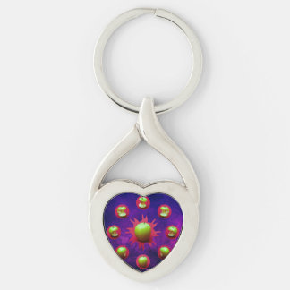Eclipse Of The Green Star Keychain