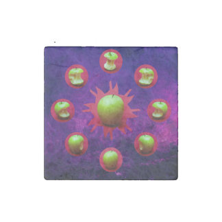 Eclipse Of The Green Star Stone Magnet