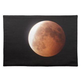 eclipse of the moon cloth placemat