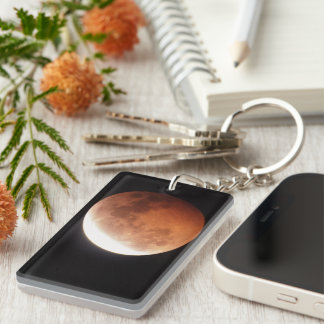 eclipse of the moon acrylic key chain