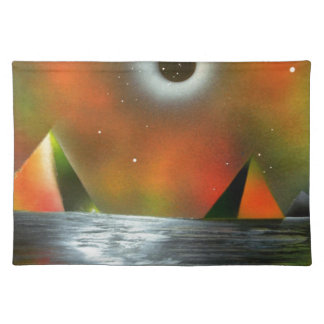 Eclipse over Pyramids Placemat