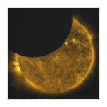 Eclipse parcial del Sun Impresión En Lienzo Estirada