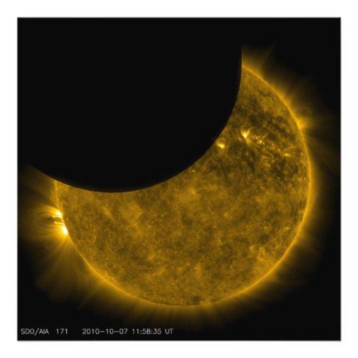 Eclipse parcial del Sun Fotografias