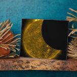Eclipse parcial del Sun Placa De Plastico