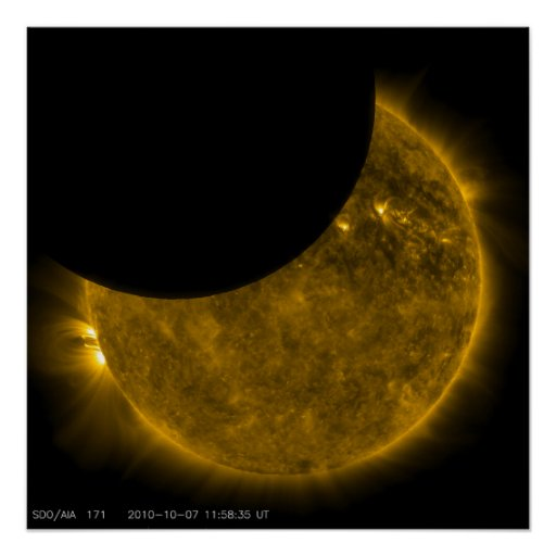 Eclipse parcial del Sun Poster