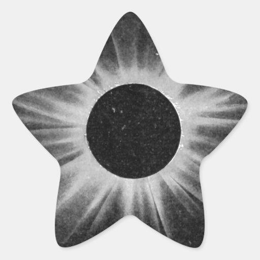 Eclipse Calcomanías Forma De Estrella Personalizadas