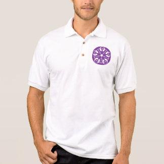 Eclipse-Purple Crop Circle Polo Shirt
