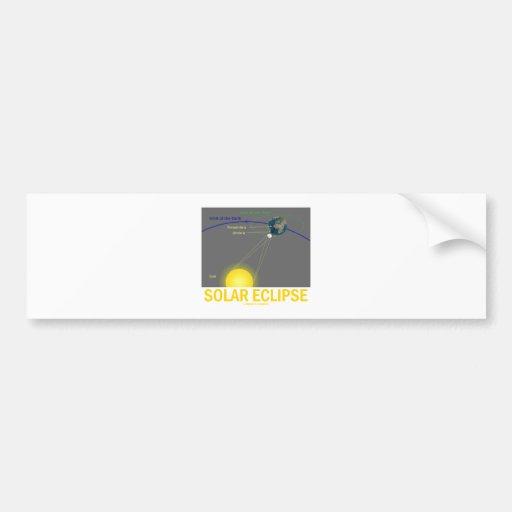 Eclipse solar (actitud de la astronomía) pegatina de parachoque