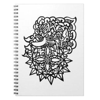 Eclipse solar - Batara Kala Libro De Apuntes Con Espiral