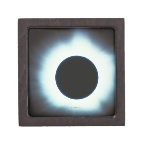 Eclipse solar caja de recuerdo de calidad