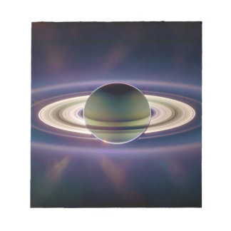 Eclipse solar de Saturn de la nave espacial de Cas Bloc De Notas