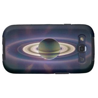 Eclipse solar de Saturn de la nave espacial de Cas Samsung Galaxy S3 Funda