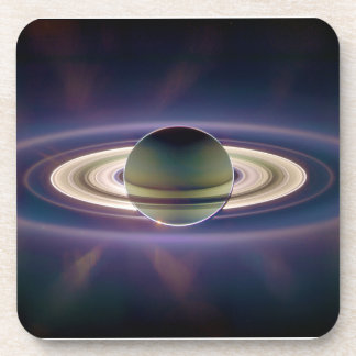 Eclipse solar de Saturn de la nave espacial de Cas Posavasos De Bebidas