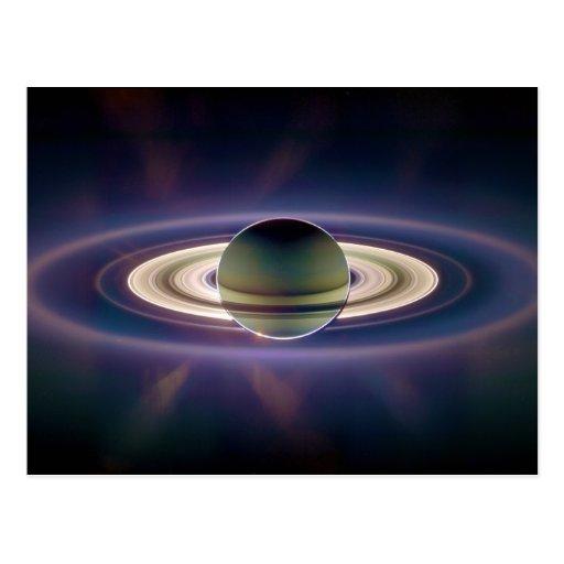 Eclipse solar de Saturn de la nave espacial de Cas Tarjeta Postal