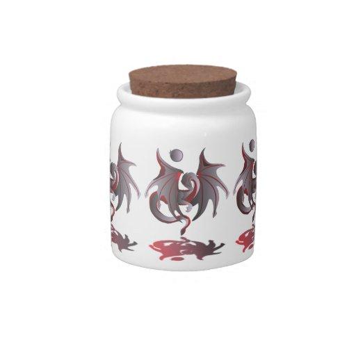 Eclipse solar (dragón rojo de rubíes) jarras para caramelos