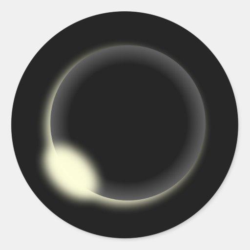 Eclipse solar etiquetas