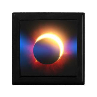 Eclipse solar joyero cuadrado pequeño
