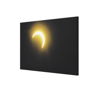 Eclipse solar impresiones en lona