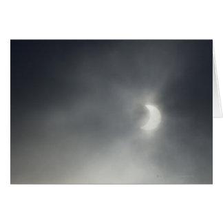 Eclipse solar parcial, cerca de Albstadt, suabio Tarjeta De Felicitación