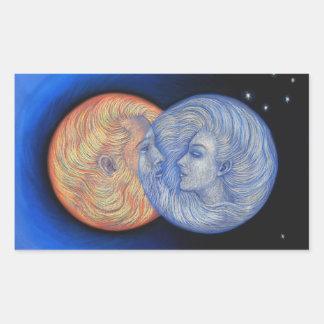 Eclipse solar rectangular pegatina