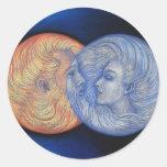 Eclipse solar pegatina redonda