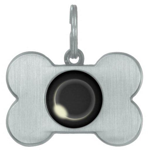 Eclipse solar placas de mascota