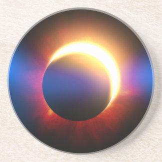 Eclipse solar posavasos cerveza