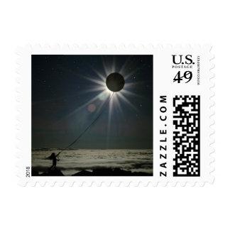 Eclipse solar sello postal
