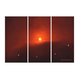 Eclipse solar sobre Somerset, 2015 Impresión En Lienzo Estirada