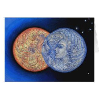 Eclipse solar tarjeta de felicitación