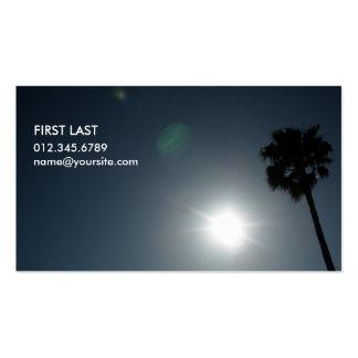 Eclipse solar tarjetas de visita