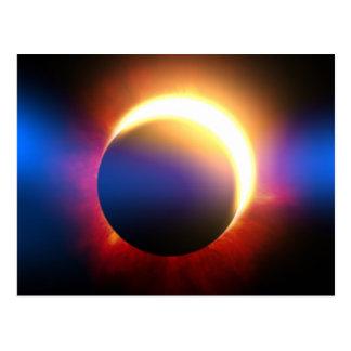 Eclipse solar tarjetas postales
