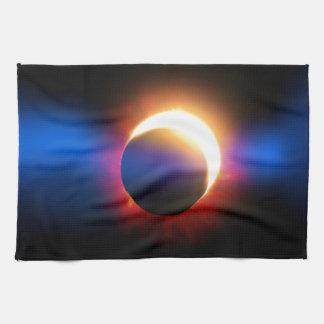 Eclipse solar toalla de mano