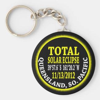 Eclipse solar total 11/13/2012 llavero redondo tipo pin