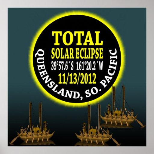 Eclipse solar total 11/13/2012 póster