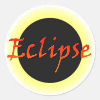 eclipse round stickers