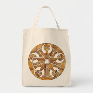 Eclipse Stone Crop Circle Canvas Bag