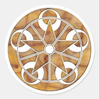 Eclipse Stone Crop Circle Classic Round Sticker