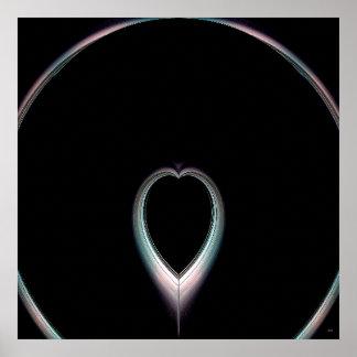 Eclipse total del poster del corazón