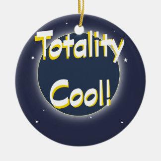 Eclipse Totality Cool! Ceramic Ornament