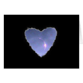 Eclipsed Heart in the Clouds Valentine Love Card