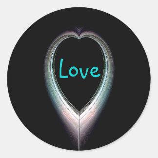 Eclipsed Heart Love Sticker