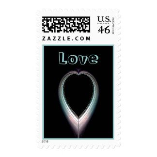Eclipsed Heart Postage Stamps